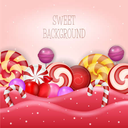 Abstract design with sweet candy Illustration