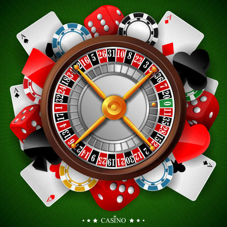 Casino background with gambling element