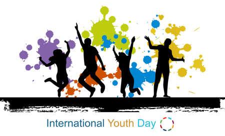 International youth day background Stock Photo