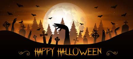 Halloween-Einladungskonzept Vektorgrafik