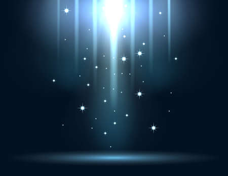 Blue glowing light explodes on a dark background