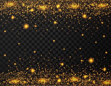Gold glitter texture on transparent background Illustration