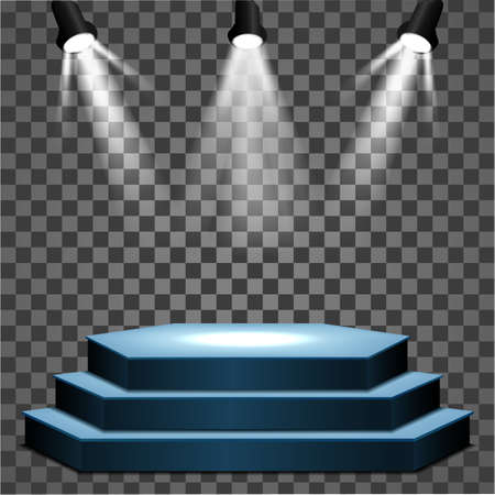 Stage podium with lighting, Stage Podium Scene for Award Ceremony