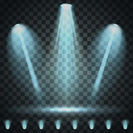 Showtime background illuminated by spotlights Standard-Bild