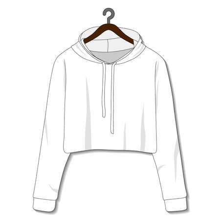 Female hoodie template isolated on a white background