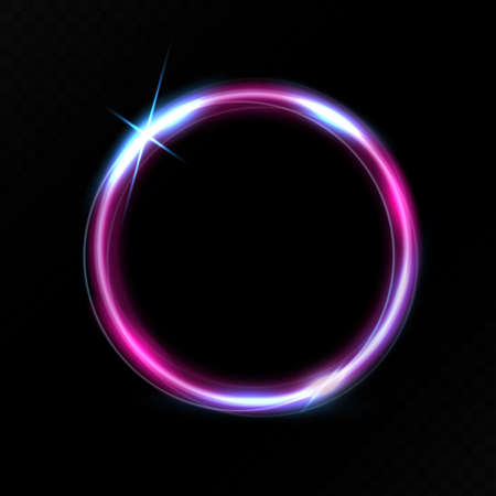 Purple circle light effect