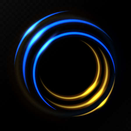 Gold and blue circle light effect