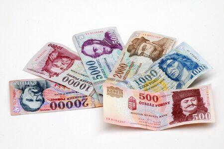 이것들은 헝가리 지폐입니다, 이것은 forint입니다.