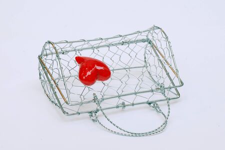 It's a lady's little purse woven wire mesh. Stock Photo - 13842733