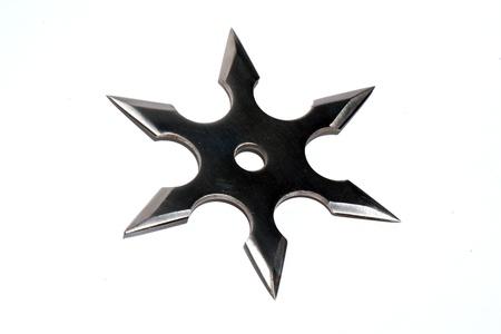 It is a shuriken, used by japanese fighter (ninja). 写真素材