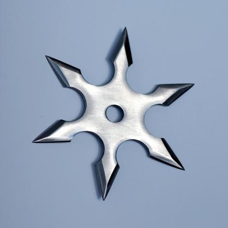 shuriken: It is a shuriken, used by japanese fighter (ninja). Stock Photo