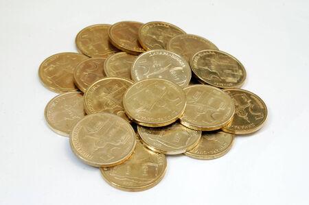 dinar: These are coins, serbian dinar  Stock Photo