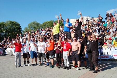 strongman: All competitors on strongman championship in Novi Sad, Serbia