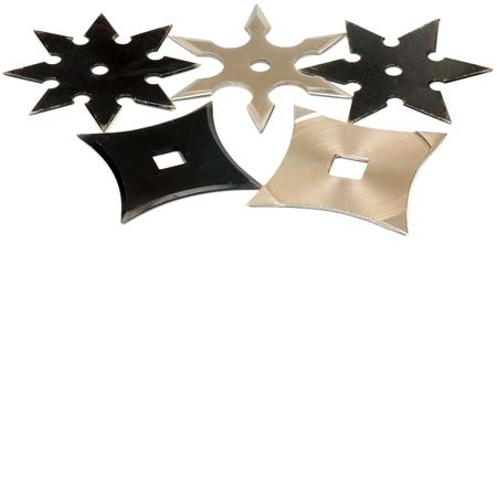 shuriken: El shuriken es un arma, utilizado por luchador japon�s (Ninja). Foto de archivo