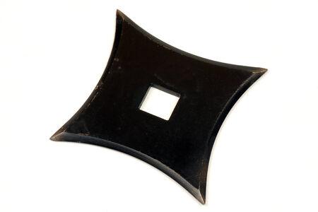 shuriken: The shuriken is a weapon, used by japanese fighter (ninja). Stock Photo