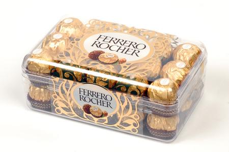 ferrero: The Ferrero Rocher is a very popular brand of fine dessert, chocolate. Editorial