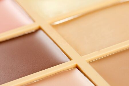 concealer: The palette of concealer with six different colors.