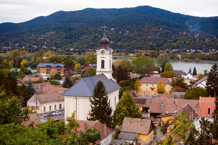 The Visegrad town in Hungary is popular travel destination. Stock Photo