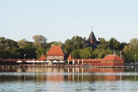The Palic lake is a popular travel destination in Serbia, landscape and tourism.