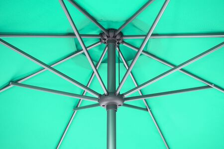 Close-up photo of under green parasol or under green umbrella. 写真素材