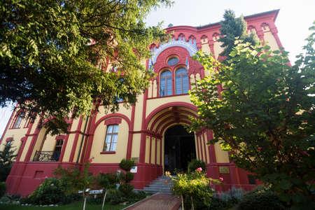 Historic building of the oldest grammar school in Sremski Karlovci in Serbia. 報道画像