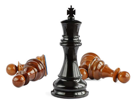chess king: Chess isolated on white background