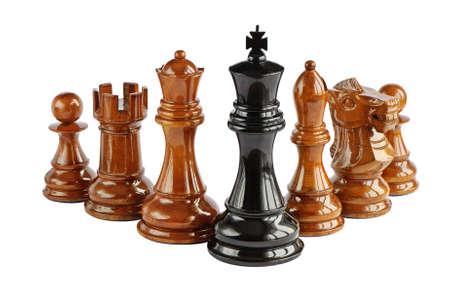 ajedrez: Ajedrez aisladas sobre fondo blanco  Foto de archivo