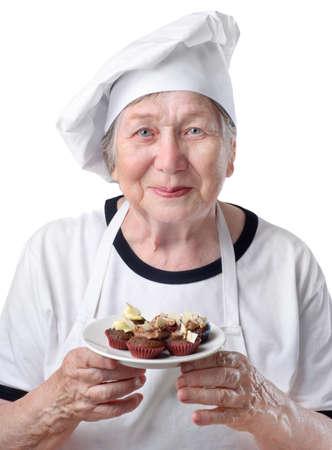 Senior woman cook  photo