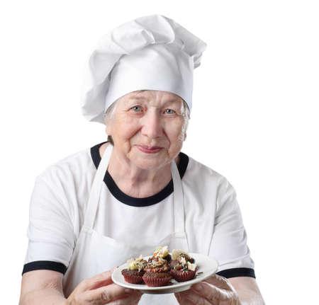 Senior woman cook Stock Photo - 10259294