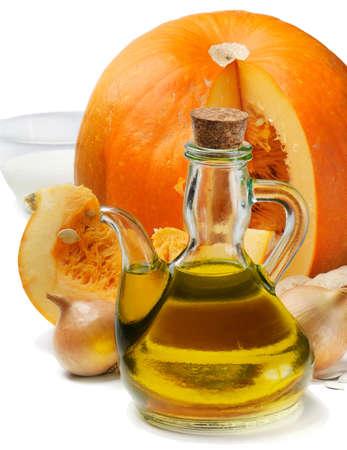 soup ingredients - pumpkin soup photo