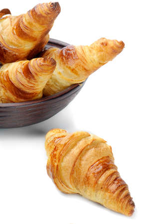 croissants isolated on white Stock Photo - 11124971
