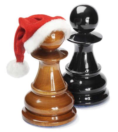 chess: Peón de Santa aislado en blanco