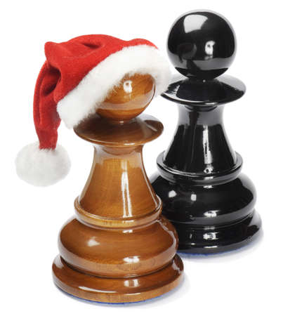 Santa pawn isolated on white