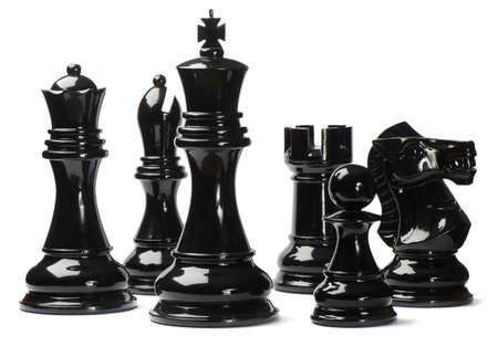 Chess isolated on white background photo