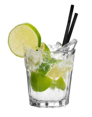 cocktail on white background