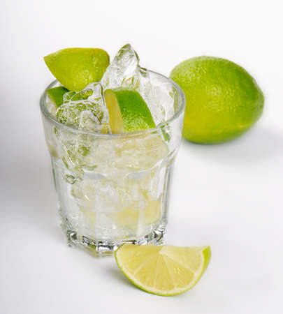 Cocktail and lime photo
