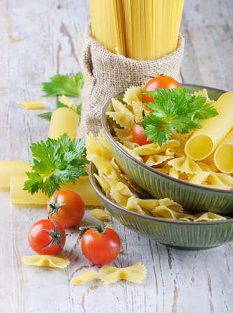 Italian pasta with vegetables Stock Photo - 11960344