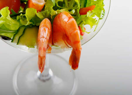 tiger shrimps salad photo