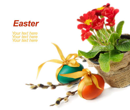 Easter eggs isolated on white background Stock Photo - 12538690