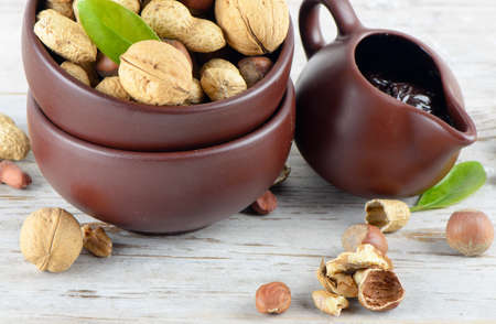 Nuts and nut cream Stock Photo - 12984657