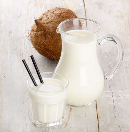 milk jugs: Milk and coconut