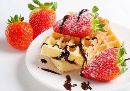 waffles with berries Stock Photo - 12984637