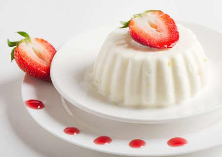 Dessert with cream and strawberries Stock Photo - 13658734