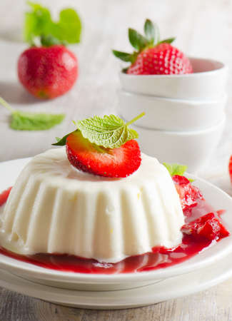 Dessert with cream and strawberries Stock Photo - 13658769