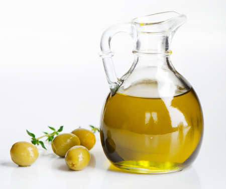 Olive oil and olives Stock Photo - 13764962