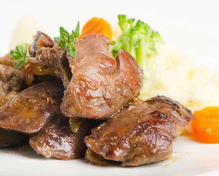 innards: Chicken livers
