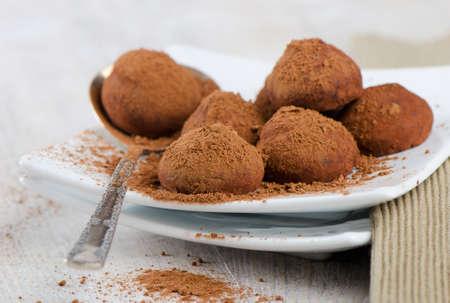 Chocolate Truffles . Close Up Stock Photo - 14066509
