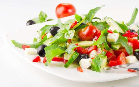 plato de ensalada: ensalada griega