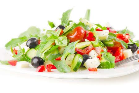 greek salad isolated on white background Stock Photo - 14329936