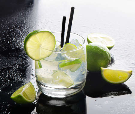 caipirinha: Mojito and limes Stock Photo